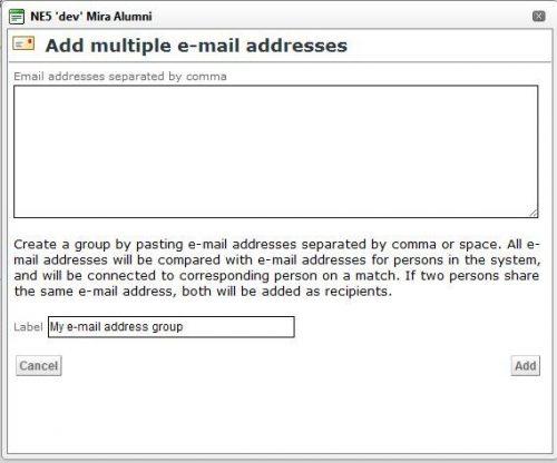 Multippla epostadresser