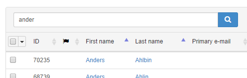 Filtering the list