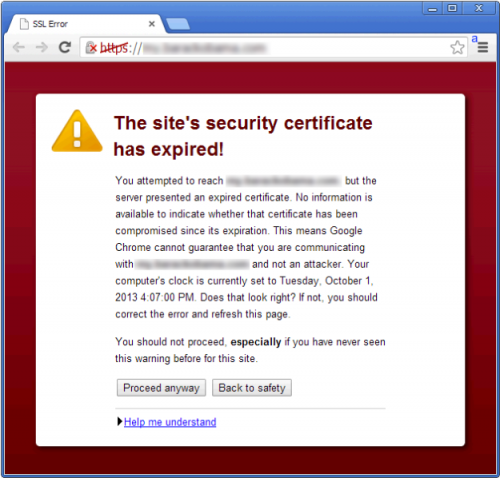 SSL-Certificate expired