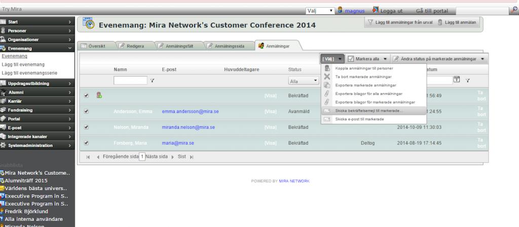 Mira Event Management 1