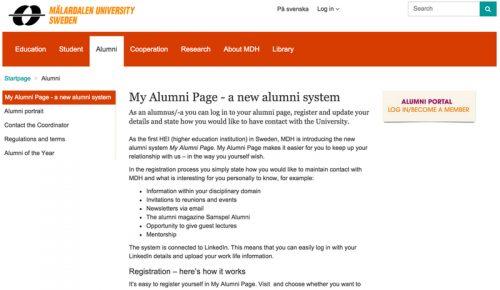 MDH My Alumni Page